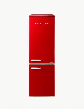 [추석특가 기획전] 코스텔 클래식 레트로 냉장고 300L 빈티지 레드 CRS-300GARD
