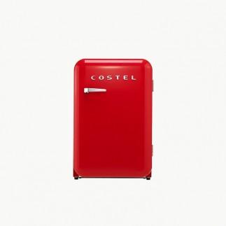 코스텔 모던 레트로 냉장고 107L 빈티지 레드 CRS-107HARD