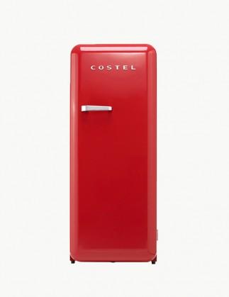 코스텔 모던 레트로 냉장고 281L 빈티지 레드 CRS-281HARD